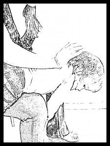 golpe espalda bebé